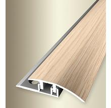 Ausgleichprofil 576V Alu mit Holzdekor Eiche weiß gekalkt 100 cm