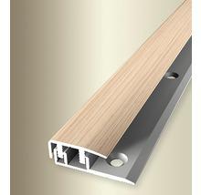 Endprofil 577V Alu mit Holzdekor Eiche weiß gekalkt 100 cm