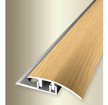 Ausgleichprofil 576V Alu mit Holzdekor Eiche hell 270 cm
