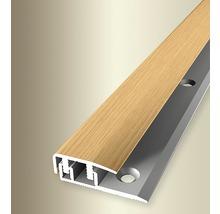 Endprofil 577V Alu mit Holzdekor Eiche hell 100cm
