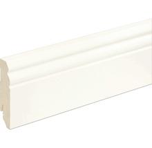 Sockelleiste profiliert Fichte/Kiefer weiß RAL 9010 lackiert L0133L 18x80x2400 mm