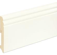 Sockelleiste Fichte/Kiefer weiß RAL 9010 lackiert L0114L 18x115x2400 mm