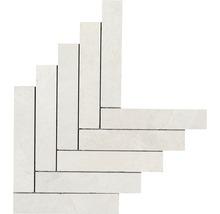 Feinsteinzeugmosaik Ardesia bianco 44,9x61,6cm