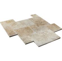 Naturstein Wand- und Bodenfliese Roma röm Verband 1,2 cm Set mit 6 Stück