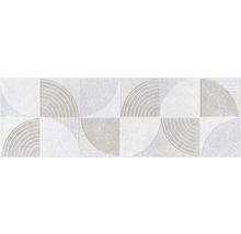 Steingut Wandfliese Active Decor Grey 30x90cm rektifiziert