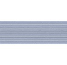 Steingut Wandfliese Scenic Structure Blue 25x70cm