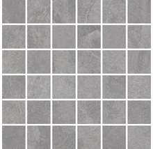 Feinsteinzeugmosaik Cliff Grey 30x30cm