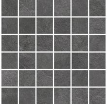 Feinsteinzeugmosaik Cliff Black 30x30cm