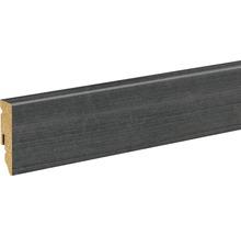 Sockelleiste Esche schwarz foliert FU062L 15x58x2400 mm