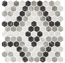 Glasmosaik Hexagon Pattern 4 29x30 cm