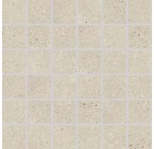 Feinsteinzeugmosaik Rako Piazzetta beige 30x30cm, Steingröße 5x5cm