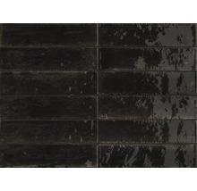 Feinsteinzeug Wand- und Bodenfliese Lume Black 6x24 cm rektifiziert