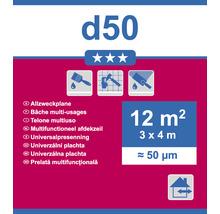 Allzweckplane D50 transparent 3 x 4m