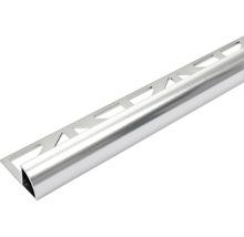 Viertelkreis-Abschlussprofil Dural Durondell 6 mm Länge 250 cm, Alu Silber
