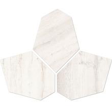 Feinsteinzeug-Mosaik Kent esagona bianco 35x28 cm