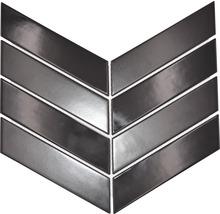 Keramikmosaik Chevron mix black 22,4x31,8 cm