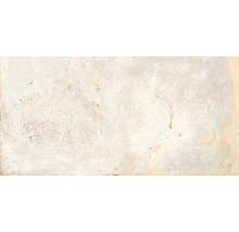 Wand- und Bodenfliese Metall weiss 60x120 cm