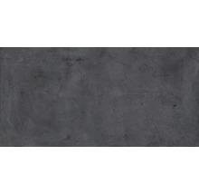 Wand- und Bodenfliese Metall dunkelgrau 60x120 cm