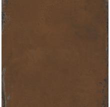 Wand- und Bodenfliese Metall orange 60x60 cm