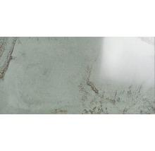 Wand- und Bodenfliese Metall grün 60x120 cm poliert