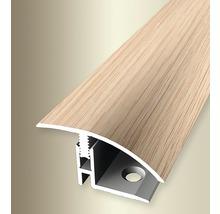 Ausgleichsprofil 559H Alu mit Holzdekor Eiche weiß 100 cm
