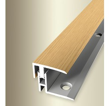 Endprofil 560H Alu mit Holzdekor Eiche hell 100cm
