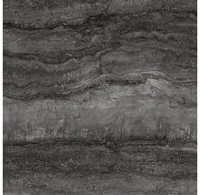 Wand- und Bodenfliese Memento Travertino black lappato 59x59 cm