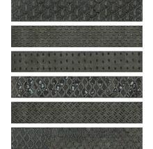Dekorfliese Metall Reaktive mix grau 6,1x37 cm