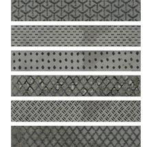 Dekorfliese Metall Reaktive mix hellgrau 6,1x37 cm