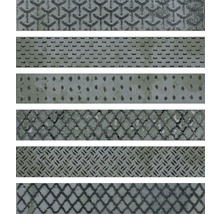 Dekorfliese Metall Reaktive mix grün 6,1x37 cm