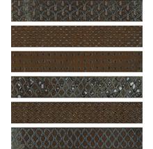 Dekorfliese Metall Reaktive mix orange 6,1x37 cm
