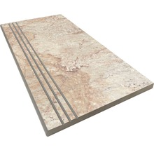 Stufenplatte abgerundet Slate grey 30x60 cm