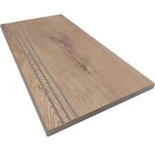 Stufenplatte abgerundet Essenze canella 30x60 cm