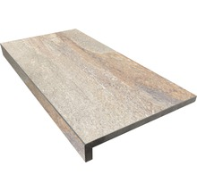 Beckenrandstein L-Form Slate grey 30x60x5 cm