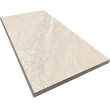 Beckenrandstein Rundform Aspen bianco 30x60 cm
