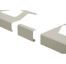 Verbinder Schlüter-BARA-RKL, Alu pastellgrau, sanitär manhattan, 35 mm,