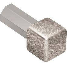 Aussen- und Innenecke 90° Schlüter-QUADEC-E/ED, 11mm, Alu strukturbeschichtet steingrau, 1 Stück