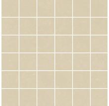 Mosaik Meissen Optimum creme matt 30x30cm Steingröße 5x5cm