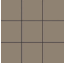 Feinsteinzeugmosaik Rako Taurus Color braun-grau, 30x30cm, Steingröße 10x10cm