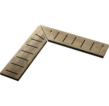 Überlaufgitter-Ecke A+B Ultra wood 14,5x60x2cm, rechts+links