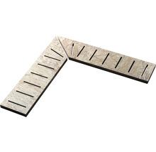 Überlaufgitter-Ecke A+B Slate grey 14,5x60x2cm, rechts+links