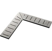 Überlaufgitter-Ecke A+B Contemporary light grey 14,5x60x2cm, rechts+links