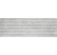 Steingut Wandfliese Momentum Structure Grey 30x90cm rektifiziert