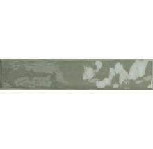 Steingut Wandfliese Kyushu grün glänzend 5x25 cm