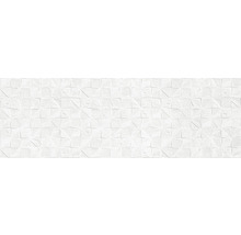 Steingut Wandfliese Momentum Decor White 30x90cm rektifiziert