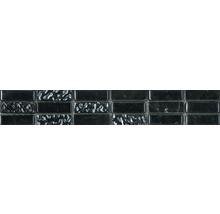 Bordüre Carrara glass-stone black 30x4,8 cm
