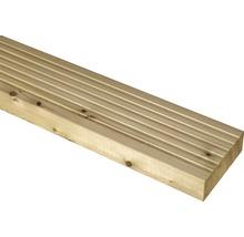 Terrassendiele sibirische Lärche roh 26,5X140X4000 mm