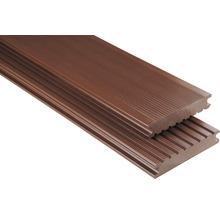Konsta WPC Terrassendiele Vollprofil glatt braun 26x145 mm (Meterware ab 1000 mm bis max. 6000 mm)