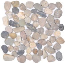 Natursteinmosaik XKF 004M 31,5x31,5 cm beige/schwarz/grau
