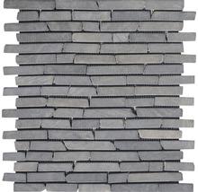 Bruchmosaik Slim Brick graphit tumbled